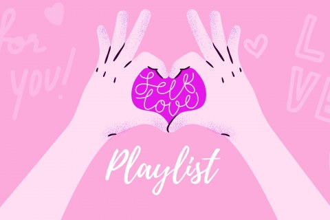 Student Media Self Love Playlist Graphic
