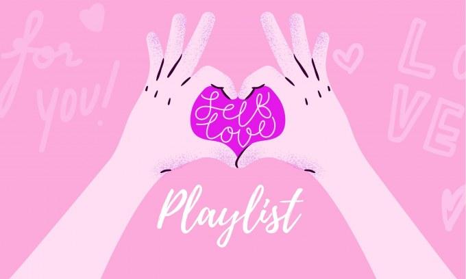 Student Media Self Love Playlist Graphic